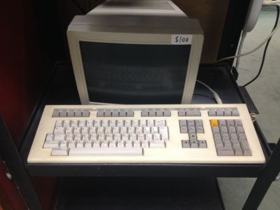 A Digital Equipment Corporation (DEC) terminal from a long-dead mainframe or minicomputer system, as seen recently at the Free Geek Twin Cities salvage shop.