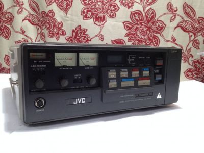 A portable JVC VCR system from the 1980's- picked up as not working from the guys at Free Geek Twin Cities.