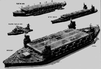 Speculative Russian Navy Ships by US LIFE Magazine, Dec 17, 1945 .