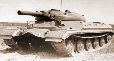 A Soviet T10 tank equipped with a missile launcher in place of it's main gun, sometime in the early 1960's.