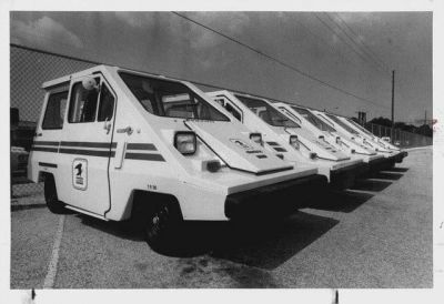 The CommutaCar, the follow-up to the CitiCar, an electric car made in the 70's saw a limited adoption with the US Postal Service who wanted to try them out. I can only imagine how that turned out, seeing as how a CitiCar makes a golf cart seem luxurious.