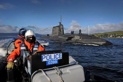 HMS Ambush and Police Escort, 2017.