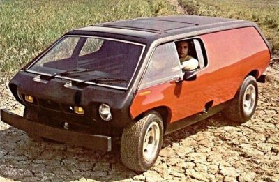 """The Brubaker Box, a strange """"van"""" built on the chassis of a Volkswagen Beetle, manufactured in the 1970's."""