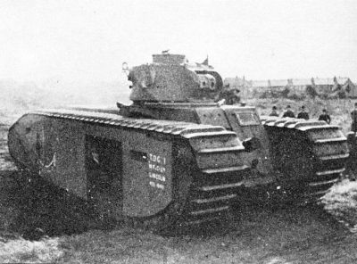The TOG I, featuring a Matilda turret and a more simplistic track scheme than the later (and more famous) TOG II.