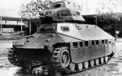 Batignolles-Chatillon light tank, 1935.