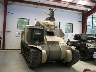 The Chieftain in an M3, famously asking for someone to drive him closer to he can hit them with his sword.