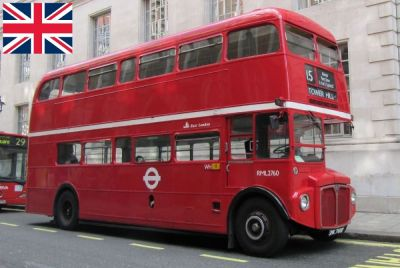 A British Routemaster bus