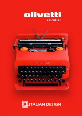 It doesn't get much more old-school than a candy-colored typewriter.