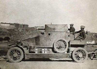 A Lanchester Armoured Car, 1917.