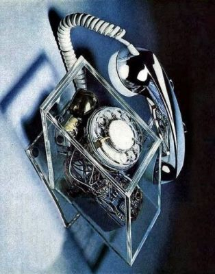 """The """"Advanced Design Phone"""" from 1975, a concept of what phones might have looked like in the year 2000. As trasnluscent palstic was all the rage at the time, they were sorta right in a sense."""
