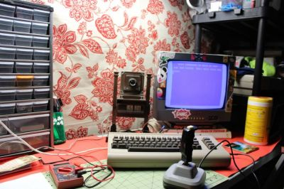 My Commodore 64, set up and running shortly before Christmas of 2020. This is where it usually lives when I'm not working on other stuff.