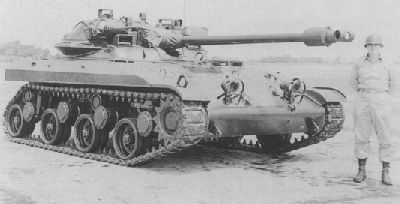 The T92 tank, a prototype air-deployable vehicle designed to fight behind enemy lines. Ultimately the XM551 Sheridan tank won out the design phase, and the T92 never saw production.
